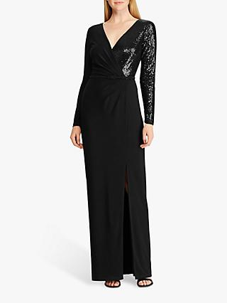 Lauren Ralph Lauren Bellamy Sequin Evening Dress, Black
