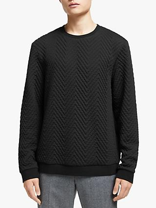 Kin Quilted Sweatshirt, Black