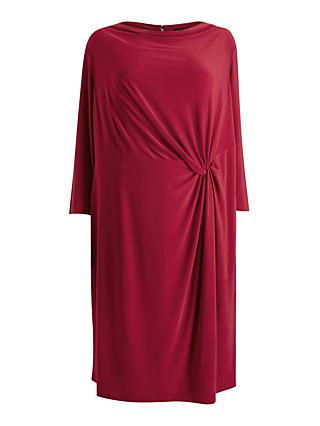 Lauren Ralph Lauren Curve Trava Cowl Neck Dress, Scarlet Red