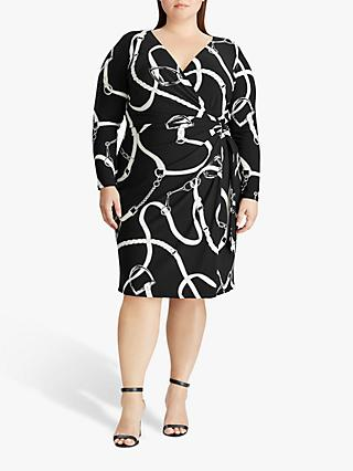 Lauren Ralph Lauren Curve Casondra Day Dress, Black/Colonial Cream