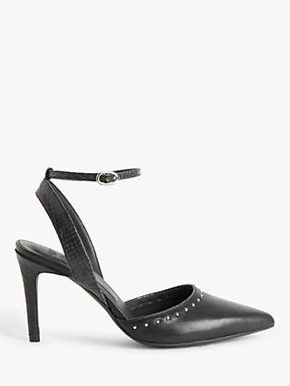 AND/OR Ailey Studded Court Shoes, Black