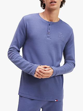 Tommy Hilfiger Waffle Knit Long Sleeve Henley Top, Navy