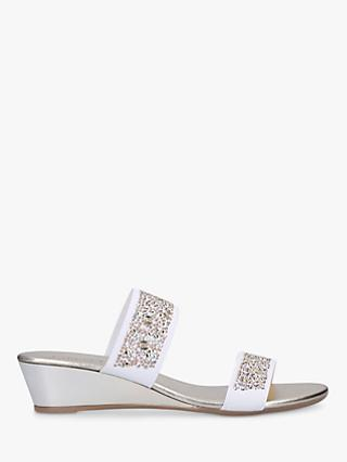 Carvela Comfort Sage Low Heel Sandals, White