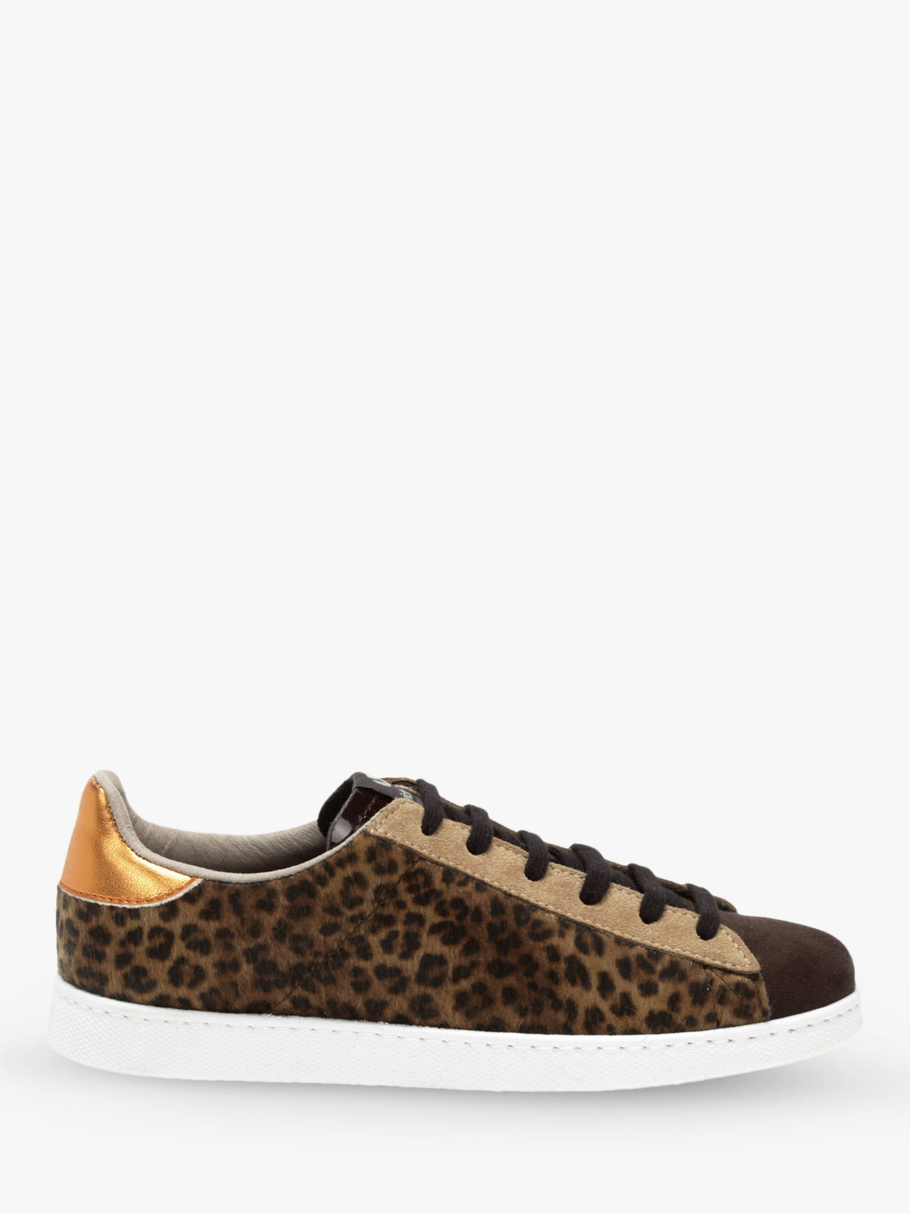 69a15ff3b24 Victoria Shoes Tenis Animal Print Trainers, Brown at John Lewis & Partners