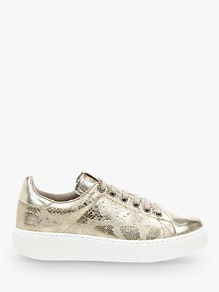 Victoria Shoes Utopia Lace Up Trainers, Gold