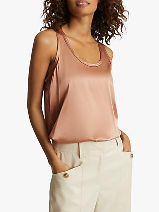 Reiss Remey Silk Front Vest Top