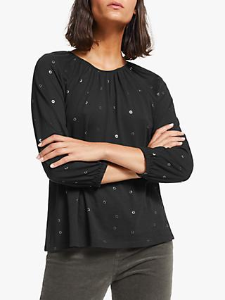 Collection WEEKEND by John Lewis Easy Gathered Foil Top, Black