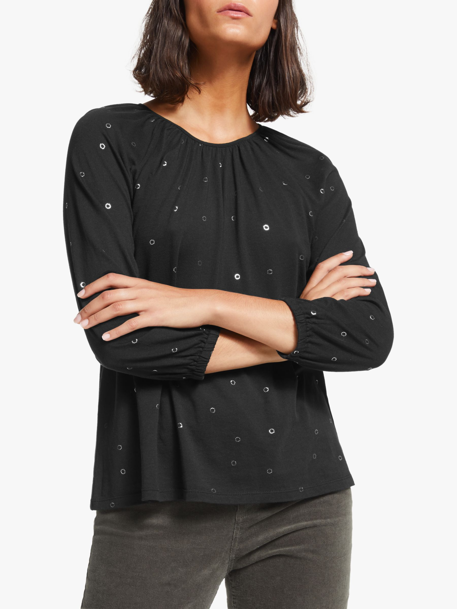 Collection WEEKEND by John Lewis Collection WEEKEND by John Lewis Easy Gathered Foil Top, Black
