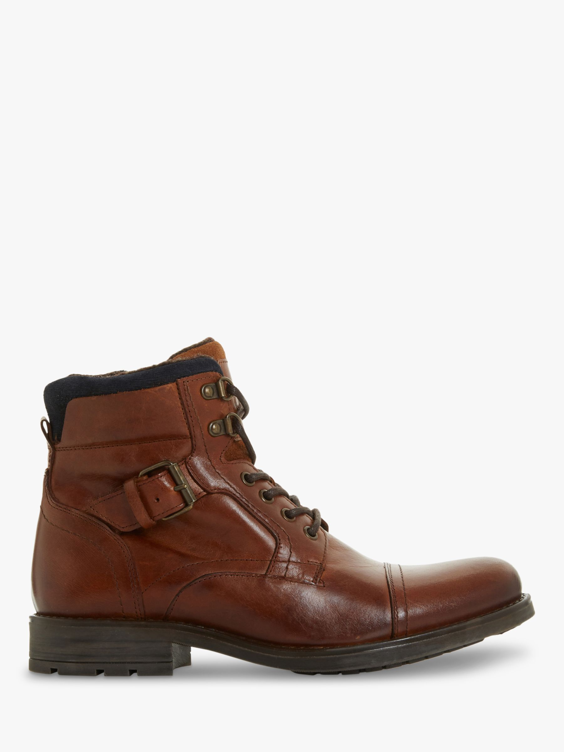 Dune Dune Commonn Leather Boots, Tan