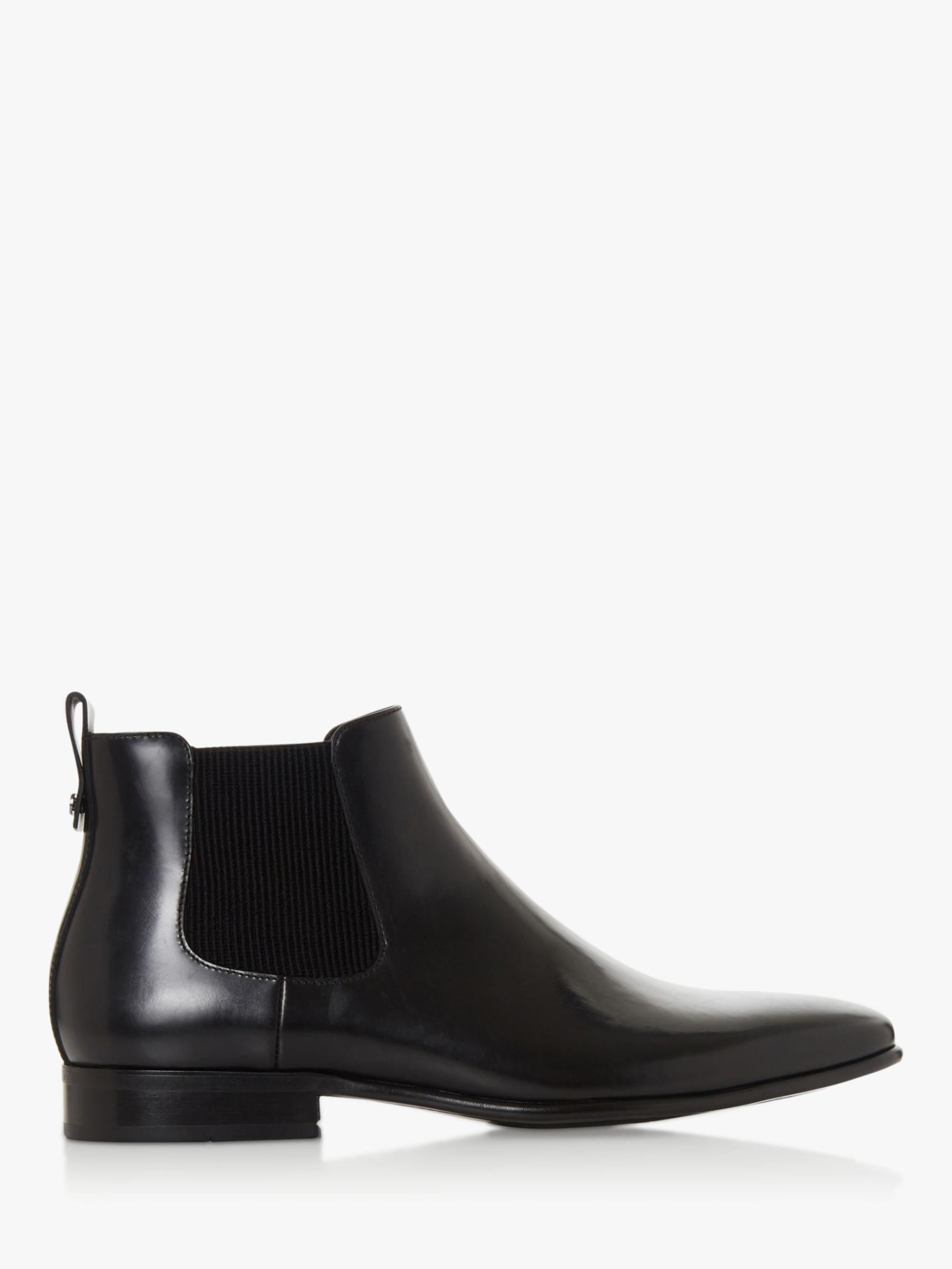 Dune Dune Morton Leather Chelsea Boots, Black