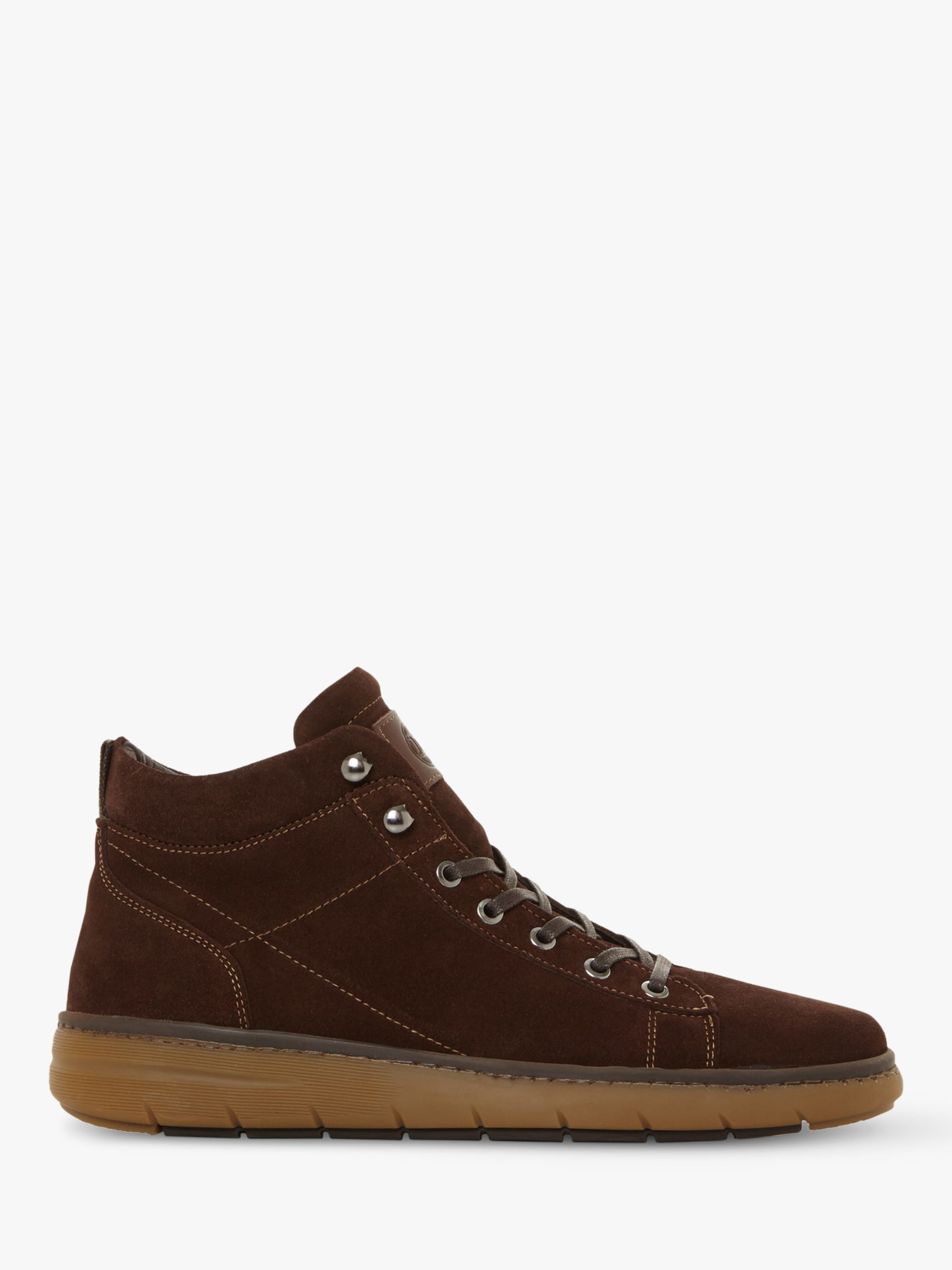 Dune Dune Cashew Suede High Top Trainers