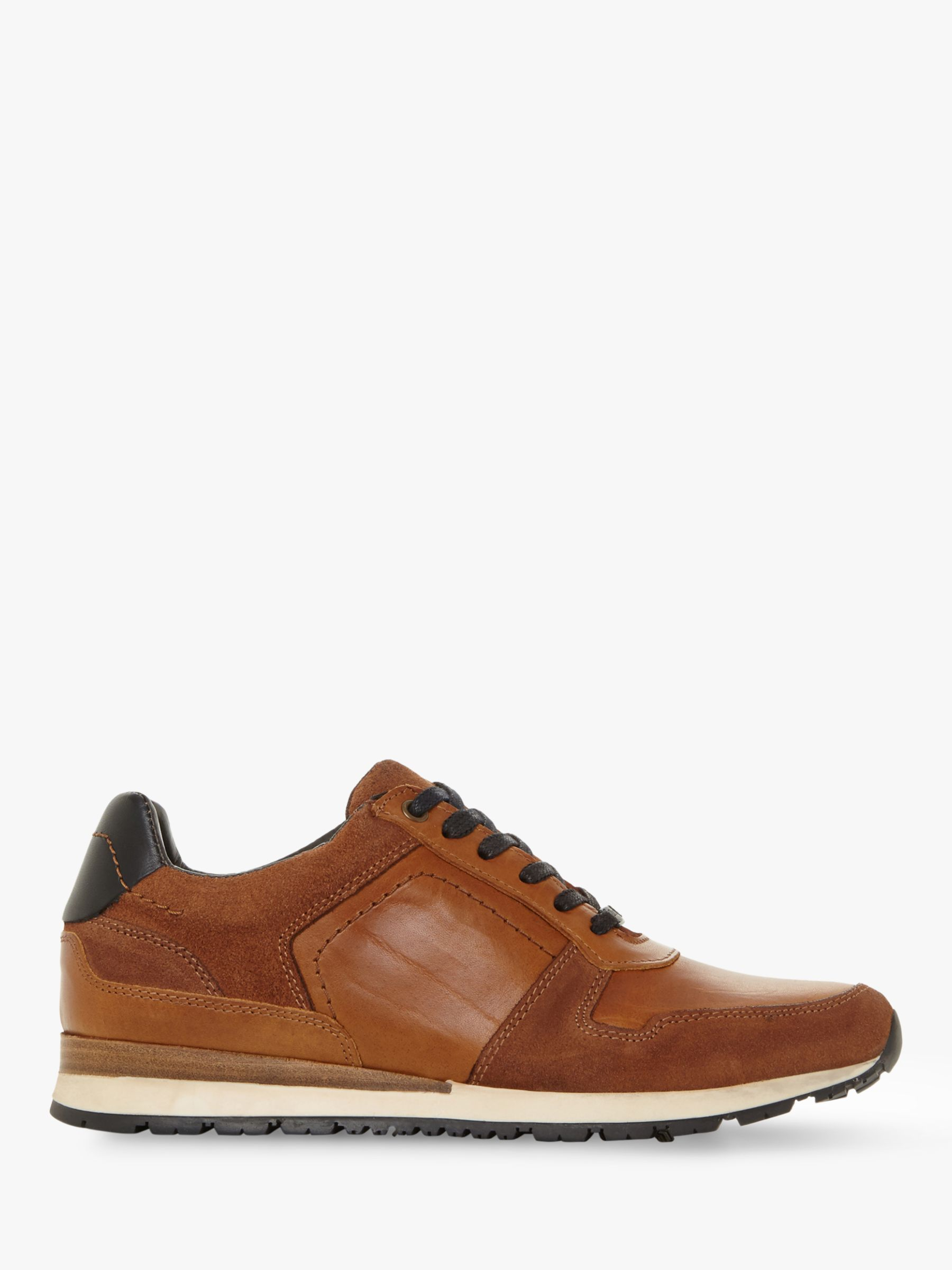 Dune Dune Tenor Leather Lace Up Trainers
