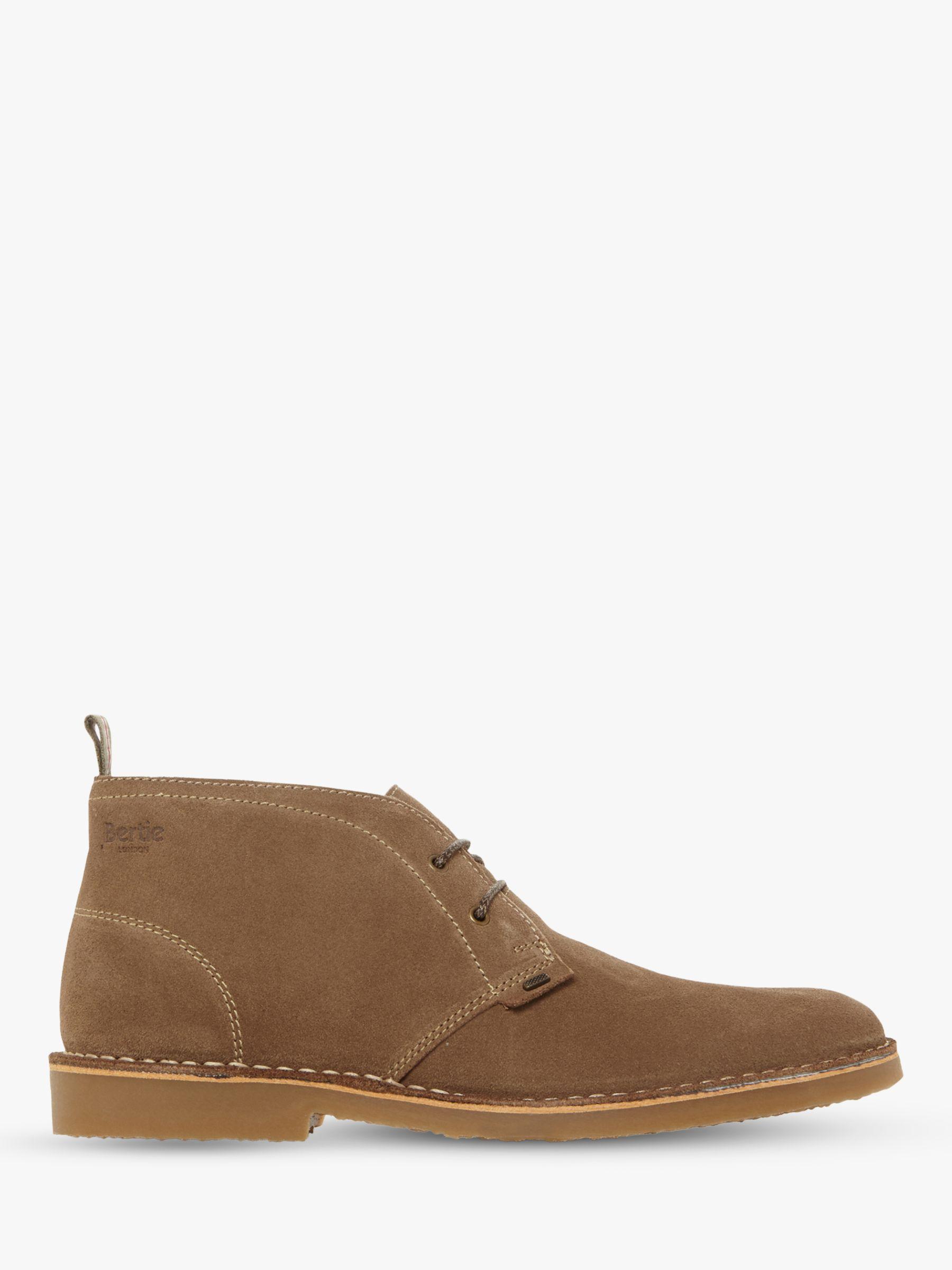 Bertie Bertie Castle II Suede Desert Boots, Taupe