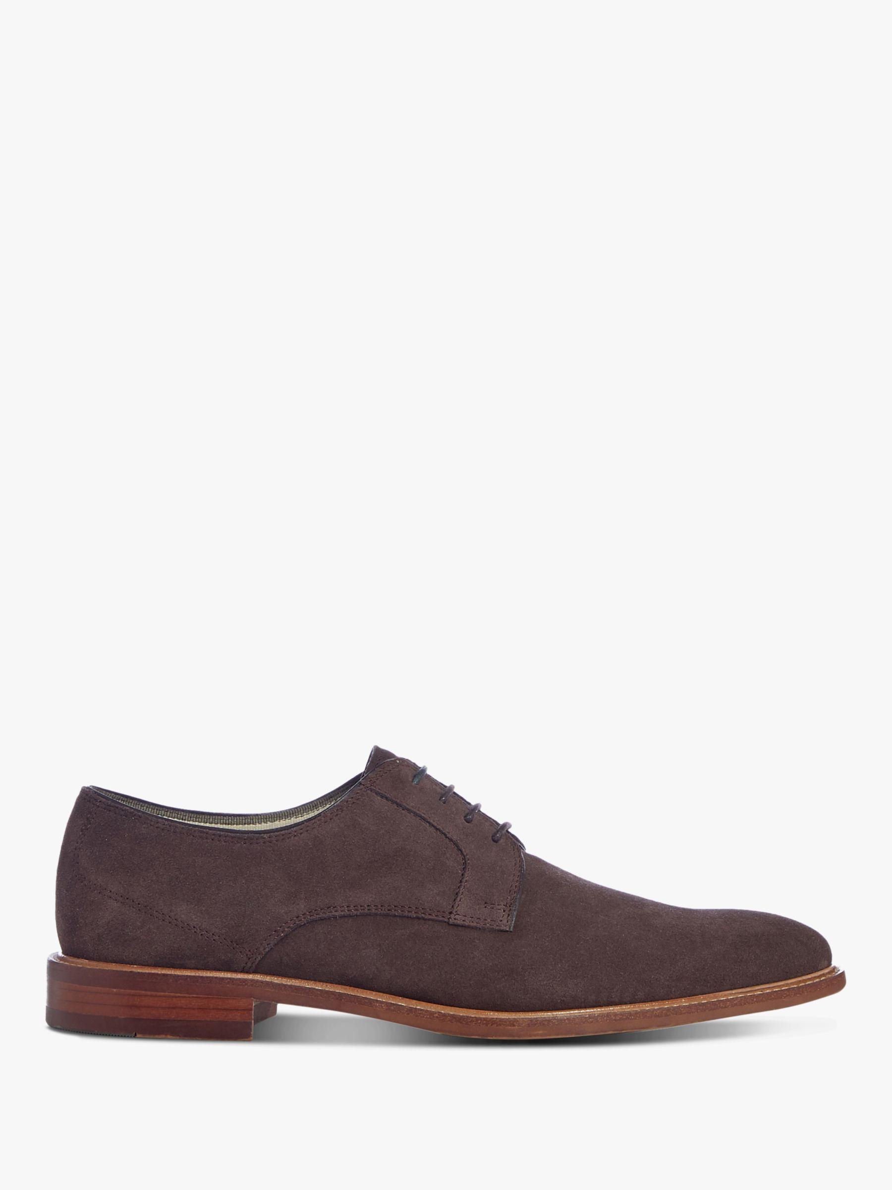 Dune Dune Bretons Suede Derby Shoes, Dark Brown Suede