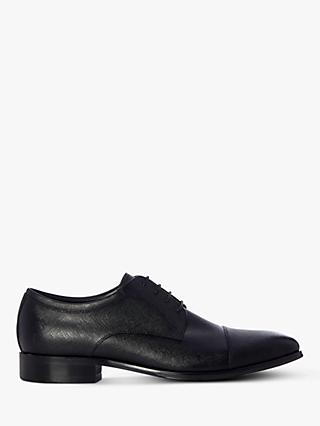 Dune Scribe Leather Toecap Derby Shoes, Black