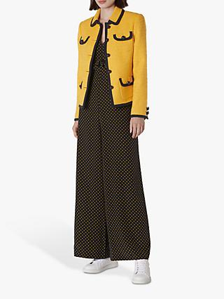 L.K.Bennett Anita Tweed Jacket, Yellow Sunflower