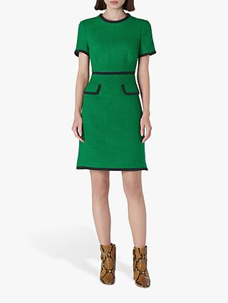 L.K.Bennett Anita Tweed Shift Dress, Fern Green