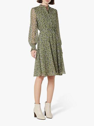 L.K.Bennett Liza Floral Dress, Olive at John Lewis & Partners