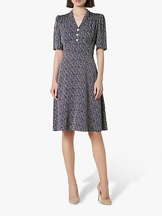L.K.Bennett Zazou Tea Dress, Midnight