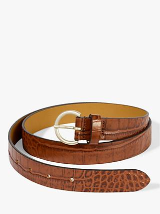 Jigsaw Thin Leather Croc Belt