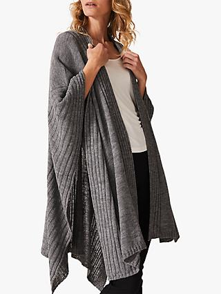 Phase Eight Taylor Textured Cape, Grey