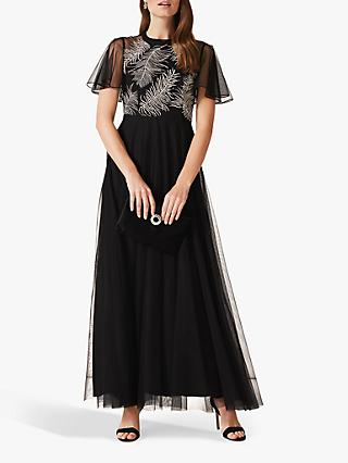 Phase Eight Loretta Feather Dress, Black