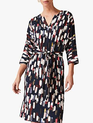 Phase Eight Jinny Smudge Dress, Navy/Multi
