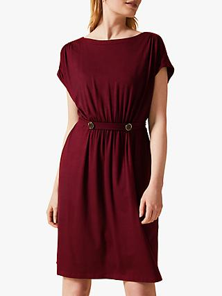 Phase Eight Fawn Button Dress, Cinnamon