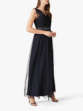 Phase Eight Romy Tulle Maxi Dress, Navy