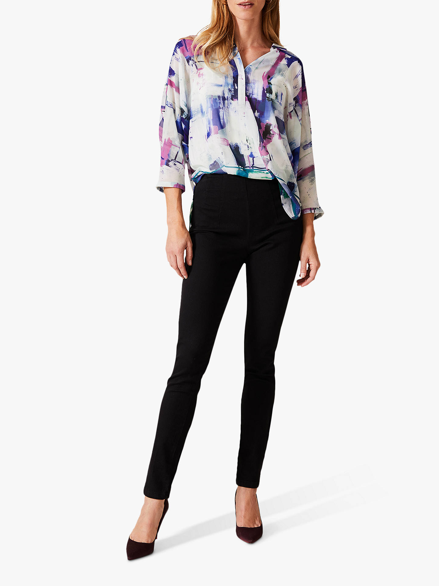 Buy Phase Eight Selima Print Blouse, Ivory/Multi, 8 Online at johnlewis.com