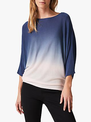 Phase Eight Becca Dip Dye Jumper, Pink/Blue