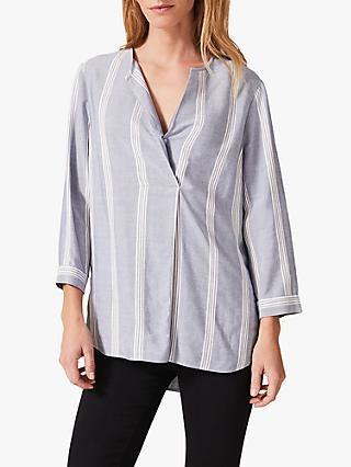 Phase Eight Winnie Stripe Shirt, Blue/Multi