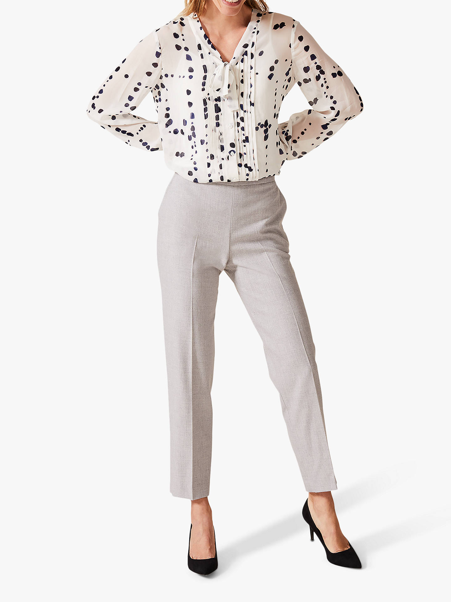 Buy Phase Eight Bailey Spot Blouse, Ivory/Multi, 8 Online at johnlewis.com