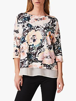Phase Eight Olean Floral Double Layer Top, Turkey