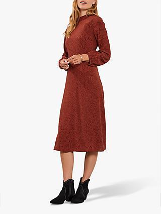 f15e34012b1 Mint Velvet Flossy Print Midi Dress, Red/Multi