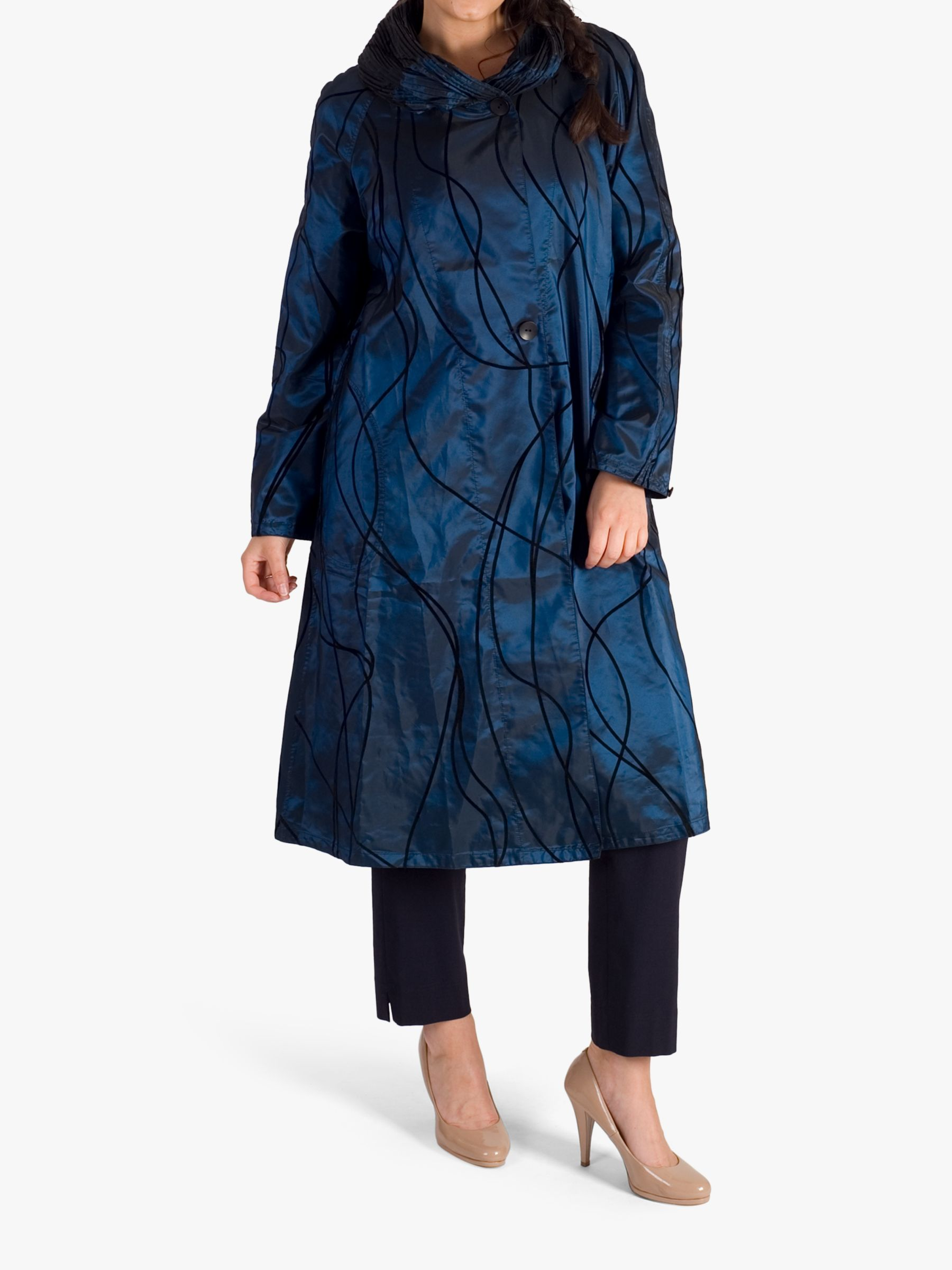 Chesca chesca Velvet Embossed Reversible Raincoat