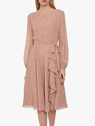 Gina Bacconi Kindra Chiffon Dress, Dusty Pink