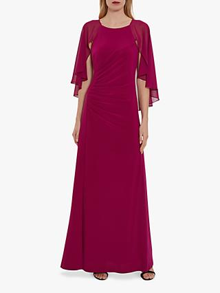 Gina Bacconi Charlotte Jersey Waterfall Sleeve Maxi Dress