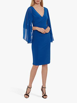 Gina Bacconi Idina Jersey Waterfall Sleeve Dress