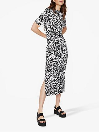 Warehouse Zebra Print Maxi T-Shirt Dress, Multi