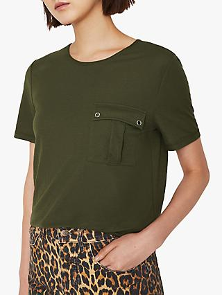 Warehouse Pique Pocket T-Shirt, Khaki