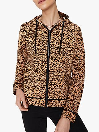 Warehouse Cheetah Print Beach Hoodie, Multi
