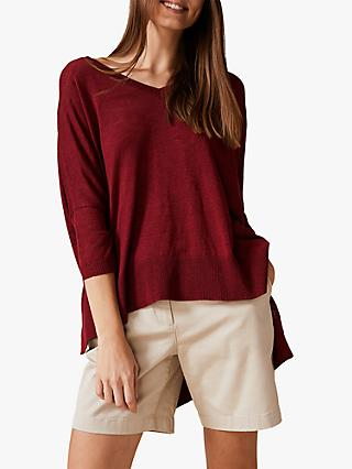 Phase Eight Larna Asymmetric Jumper, Cinnamon