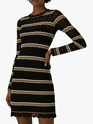 Karen Millen Stripe Knit Dress, Multi
