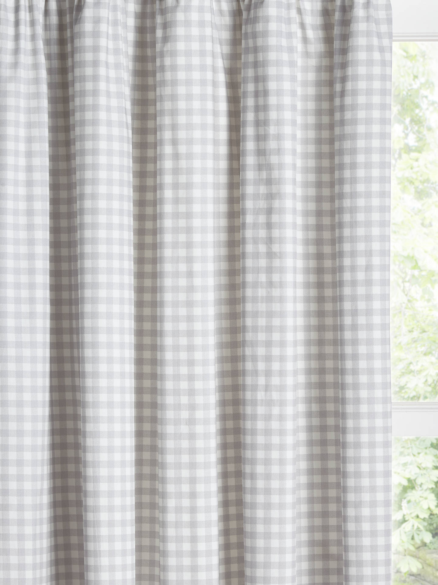 little home at John Lewis Gingham Print Pencil Pleat ...