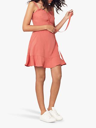 Oasis Ruffle Trim Mini Sundress, Dusty Pink