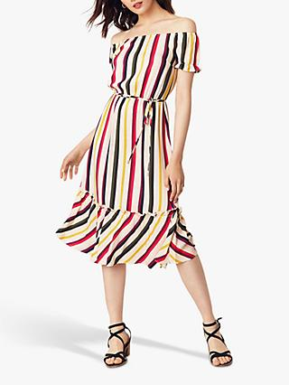 Oasis Bali Stripe Midi Dress, Multi