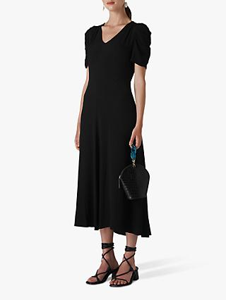 Whistles Jolanta Midi Dress, Black