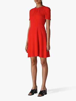 Whistles Simone Flippy Dress, Flame Red
