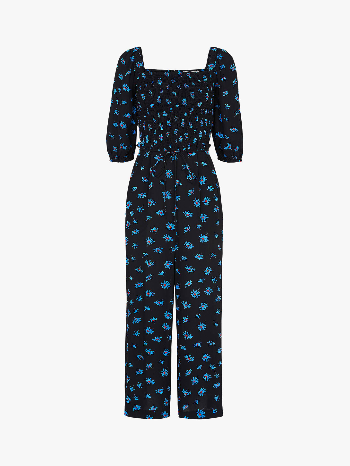 Buy Whistles Scattered Daisy Jumpsuit, Black/Multi, 14 Online at johnlewis.com